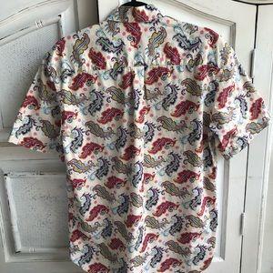 Alan Flusser Shirts - ALAN FLUSSER WHITE PURPLE PINK PAISLEY SHIRT